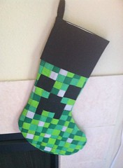 Creeper Stocking | Pixel pieced Creeper made into a Christma… | Flickr