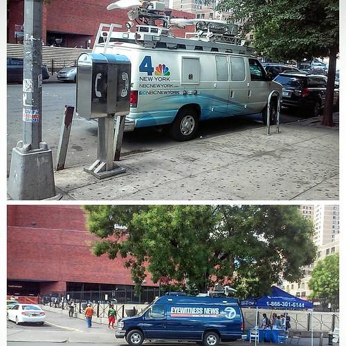 News Vans Outside Lincoln Hospital Nbc4ny Wnbc Abc7ny