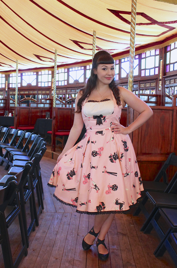 circus print dress