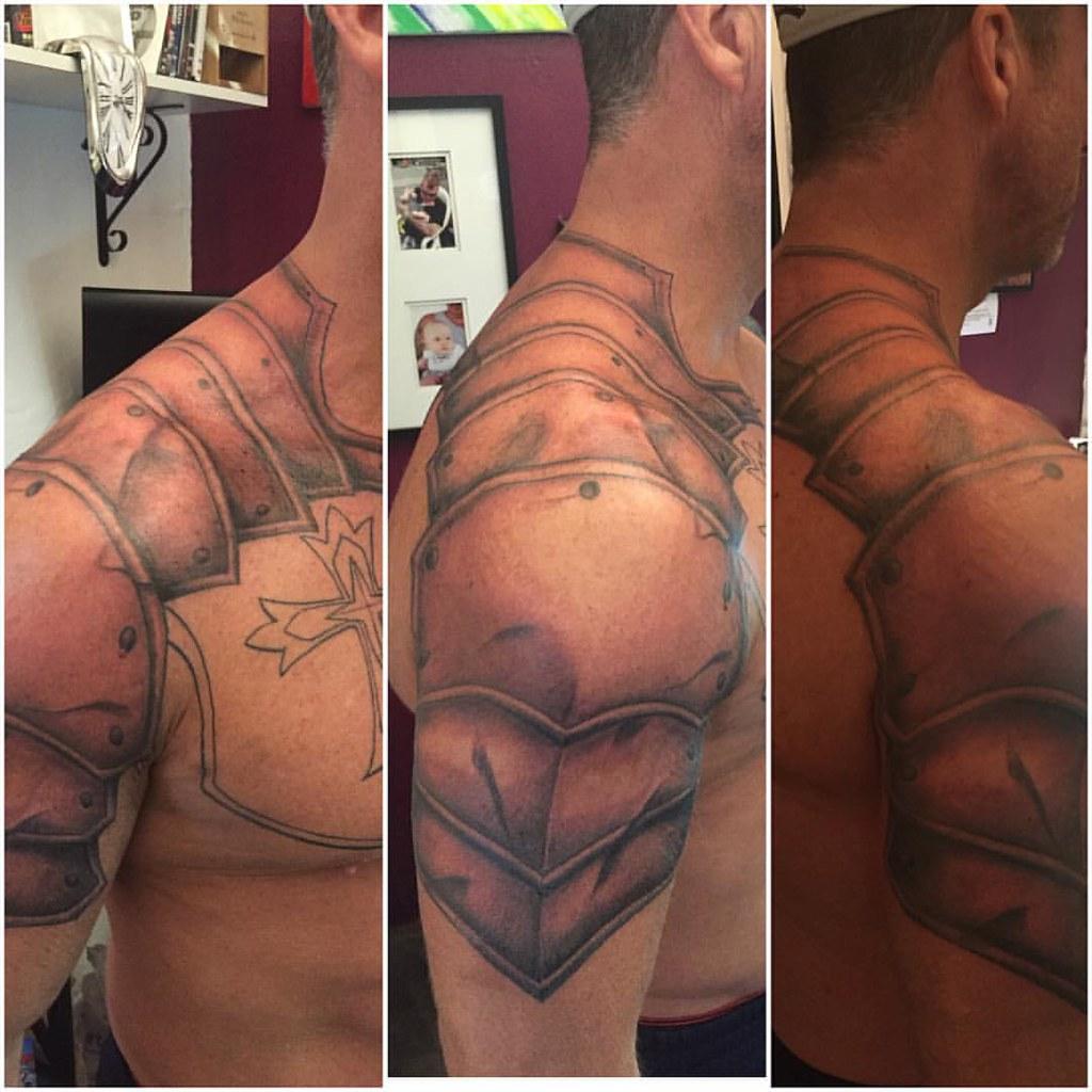 Armor Tattoo progress on the armor tattoo drew is working on @dr.drewta…   flickr