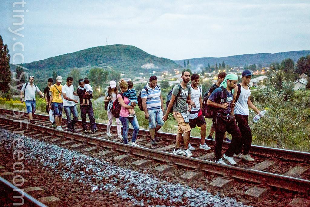 Syrian Refugees Crisis Hungary Ignorance Migrants Walk