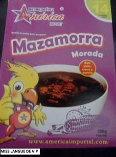 Mazamorra Morada - America
