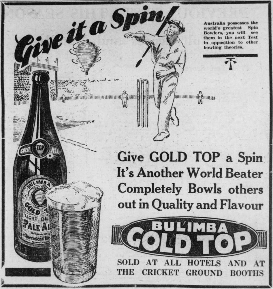 advertisment for bulimba gold top beer 1933 creator unid flickr