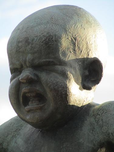 Cabeza del Niño enfadado Vigeland