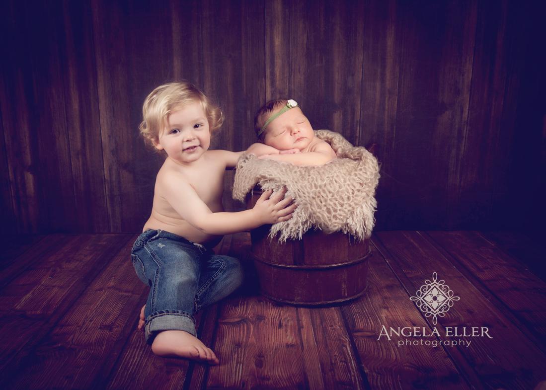 Sweet siblings visalia newborn photographer