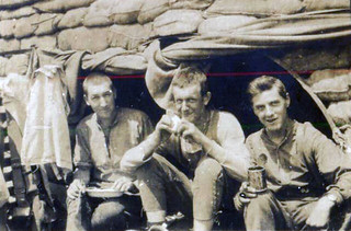 Stretcher Bearers in dugout at Prouse Point
