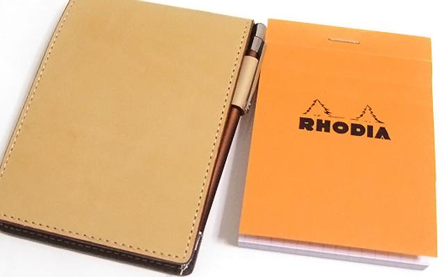 RHODIA ロディア ヌメ革カバー