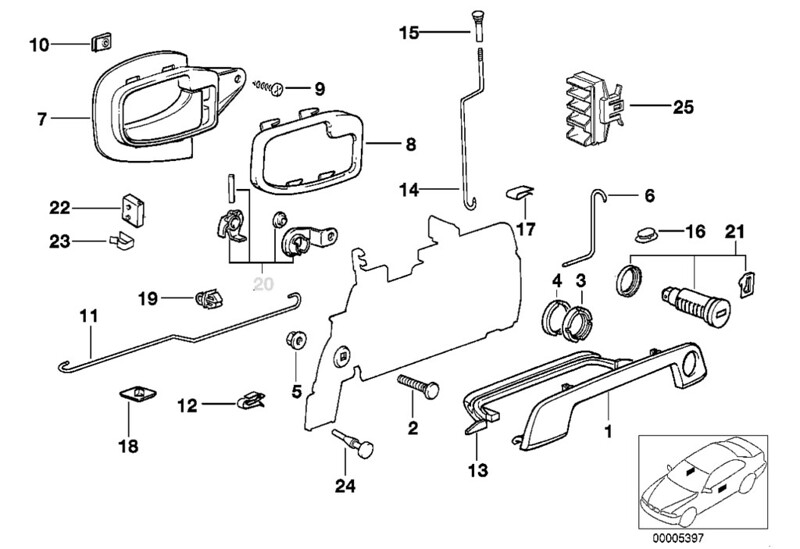 So, Based On The RealOEM Diagram, It Appears The Door Lever (number 6) On  The Driver Side Broke However, I Am Puzzled As To The Fault Code Of The  ZV...the ...