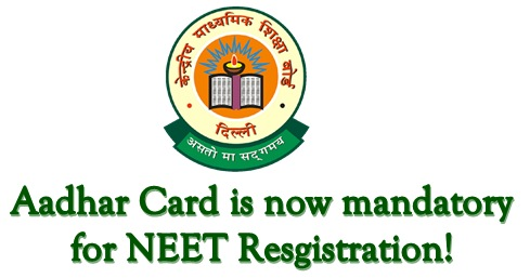 Aadhar is mandatory for NEET registration