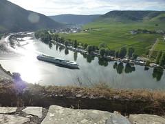 Blick auf die Mosel von der Burg Stufen vor der Burg Metternich
