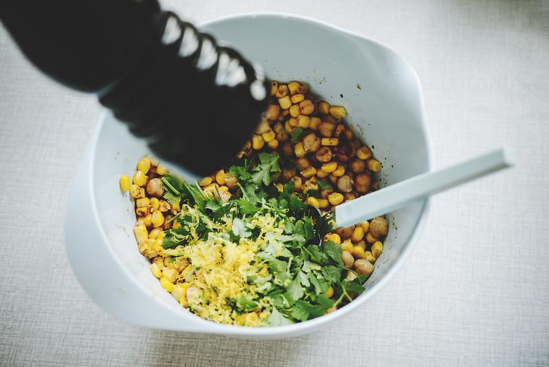 majsbiffar med koriander