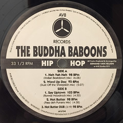 ARMAND VAN HELDEN:THE BUDDHA BABOONS(LABEL SIDE-A)