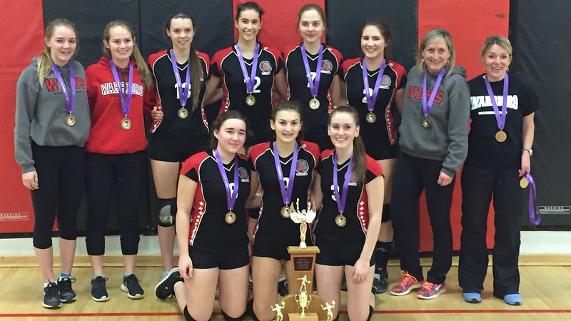 2016-17 Senior Girls Volleyball Champions: Waterdown Warriors