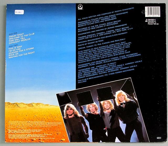 "VANDENBERG HEADING FOR A STORM 12"" LP VINYL"