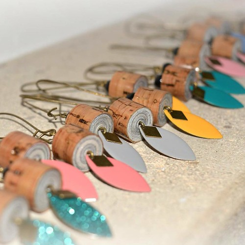 Rolled Paper Earrings by Plumes & Co.