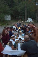 Festessen auf dem Oktoberlager