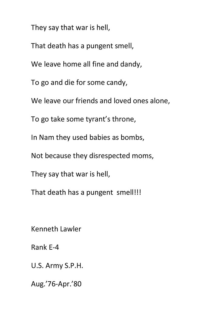 Poem: They say that war is hell   by Kenneth Lawler   Theatre Arts ...