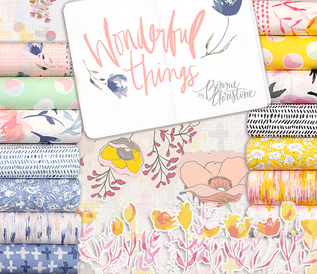 Art Gallery Fabrics Wonderful Things Collection by Bonnie Christine