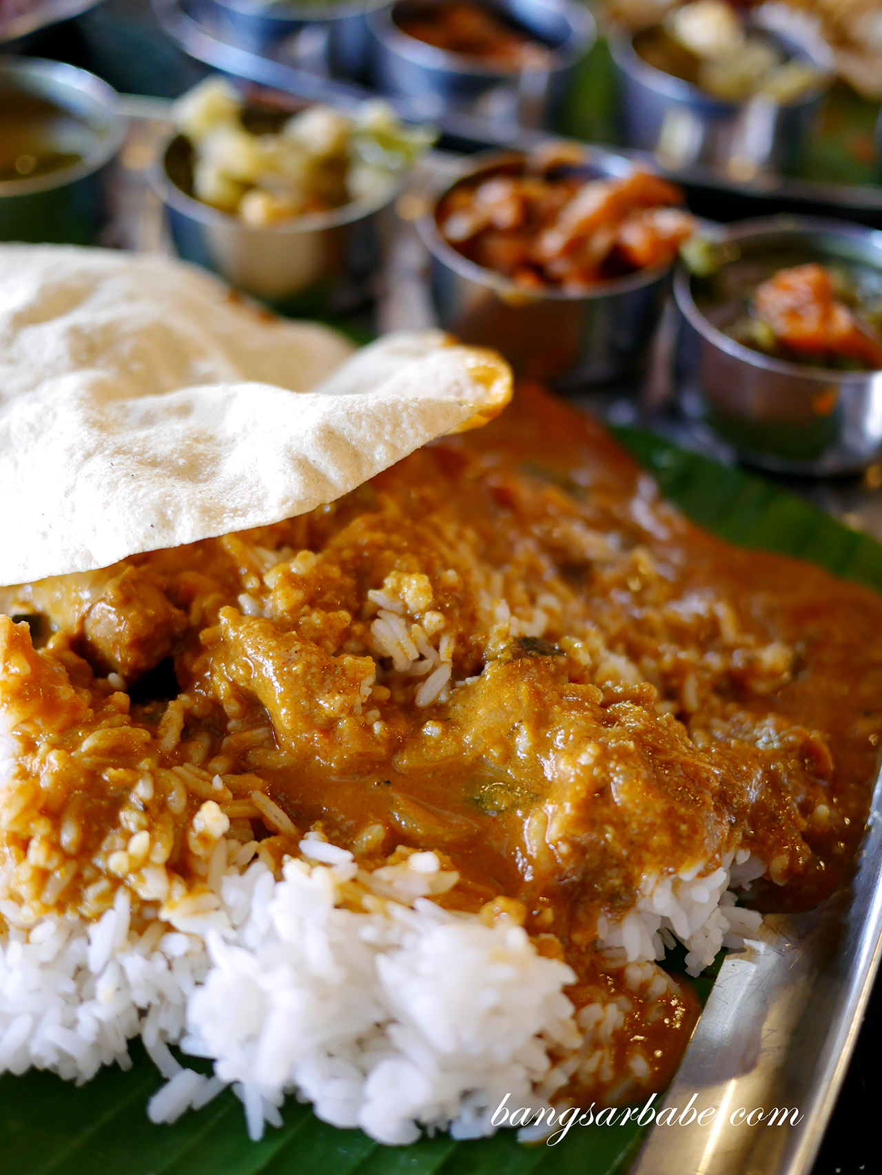 Southern Indian Banana Leaf Rice
