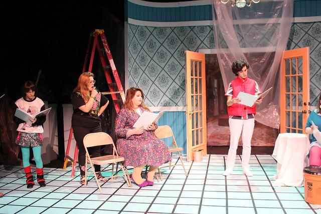 Characters played by Brian Rivera, Samantha Duran, and Triton Haq argue in Play On!