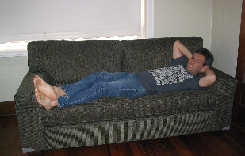 My new couch, February 2007