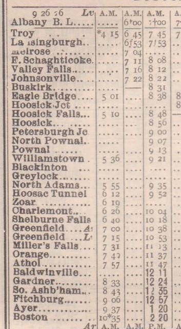 BandM Schedule 1926