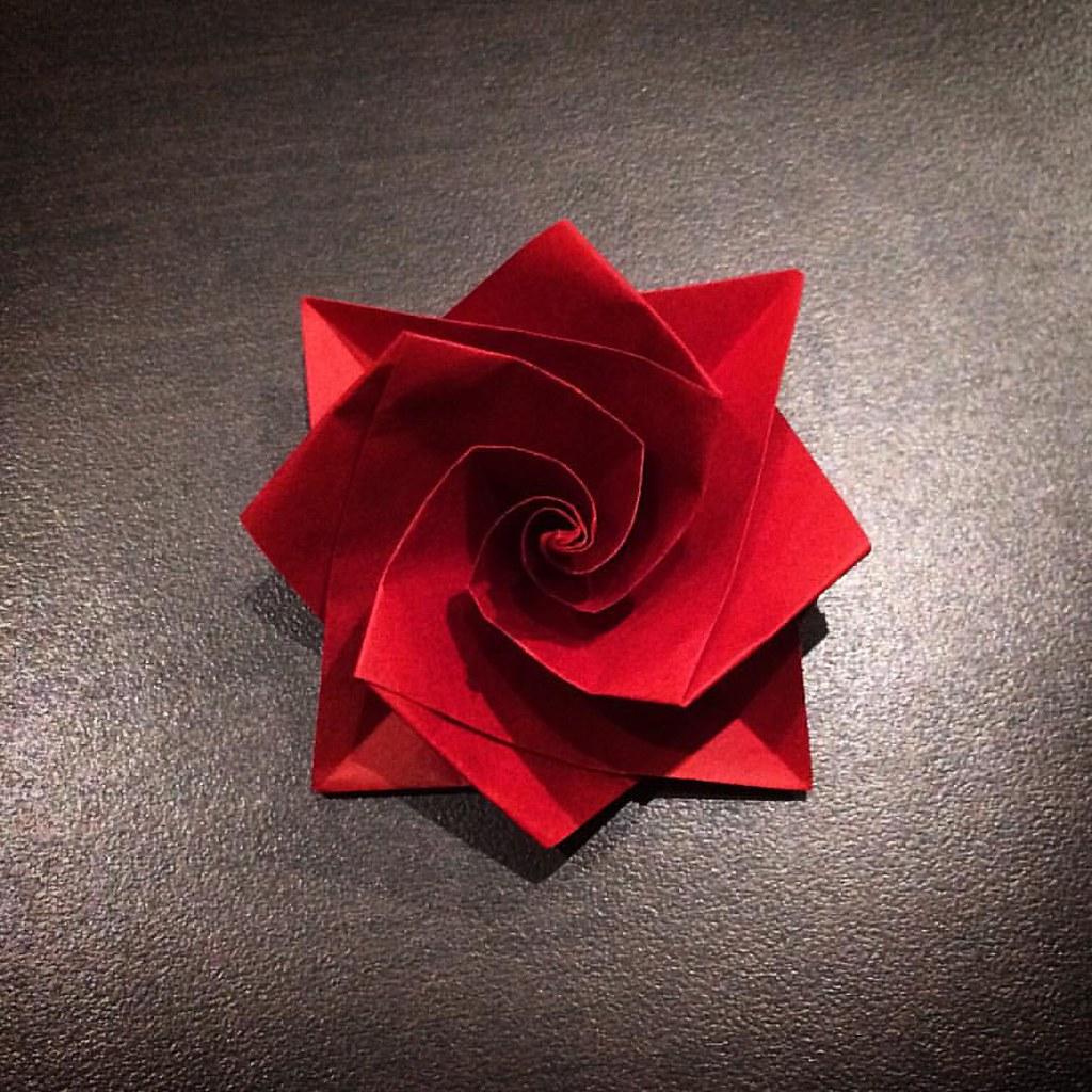 Origami Rose Paperart Papercraft Paper Art Craft D Flickr