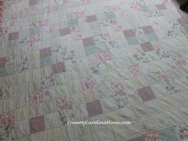Repairing an Old Damaged Quilt | From My Carolina Home : antique quilt repair - Adamdwight.com