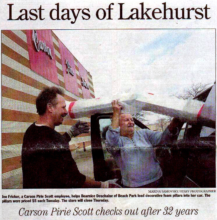 News-Sun 1/14/04: Carson's at Lakehurst closes