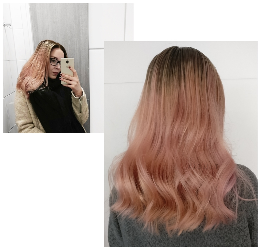 pink ombre hair curls 2