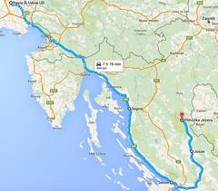 Il percorso per arrivare in moto ai Laghi di Plitvice