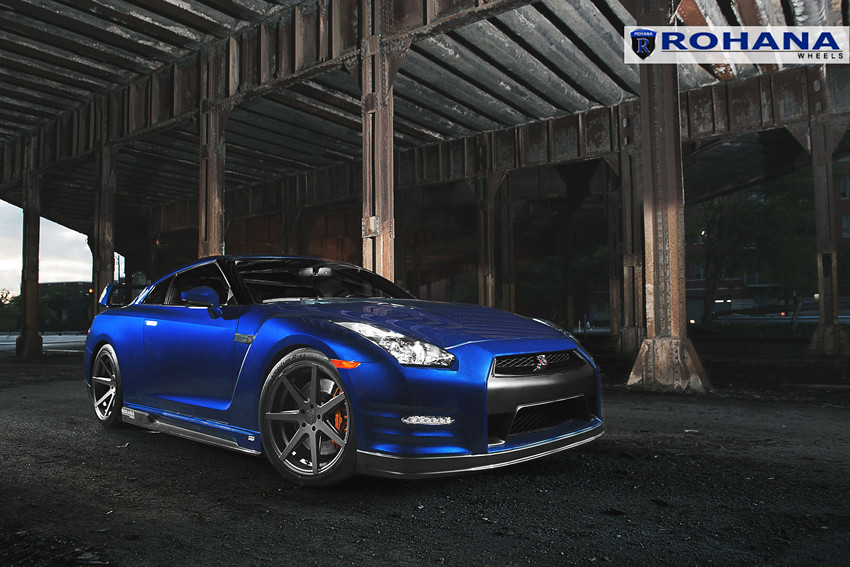 ... Nissan GTR R35 TopSpeed   RC7 Matte Graphite (3) | By Rohana Wheels