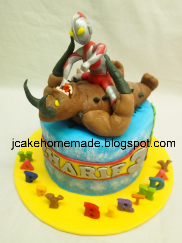 Ultraman birthday cake Happy 3rd birthday Ahmad Zharif Dan Flickr