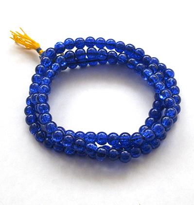 Yapa Mala Cristal Azul