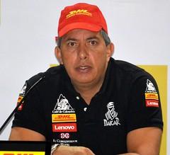 Juan Manuel Linares, piloto del equipo Dakar Café de Colombia en el Rally Dakar 2016