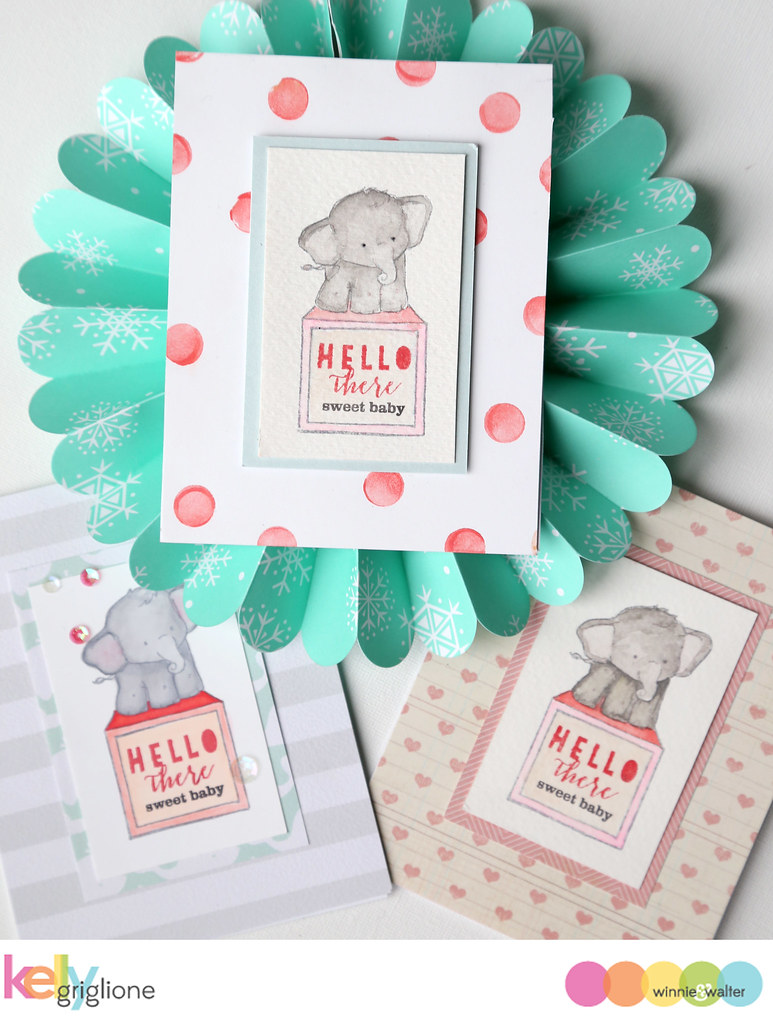 kelly_Baby Elephant Baby Card Winnie and  Walter