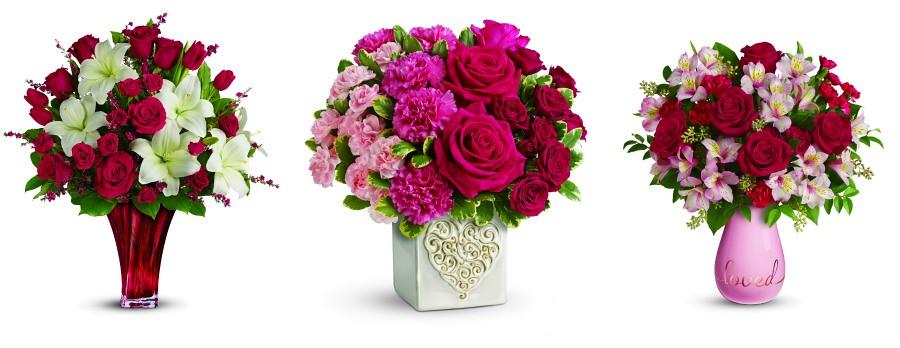 Valentine's Day Teleflora bouquets collage