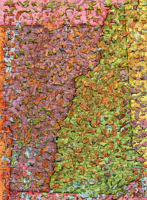 Paper Art Exhibit - Doug Beube, Erosion #14