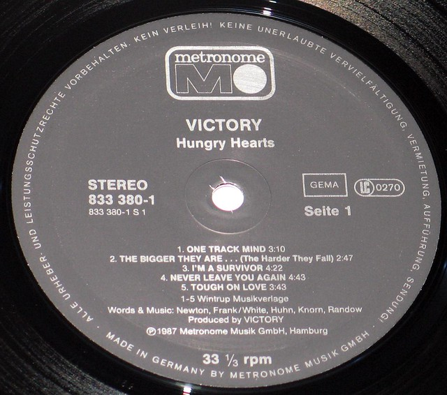 Victory Hungry Hearts German Pressing