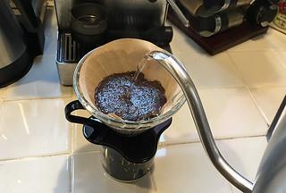 Peet's Coffee and Tea - Major Dickason's Blend Dark Roast Pour over brew