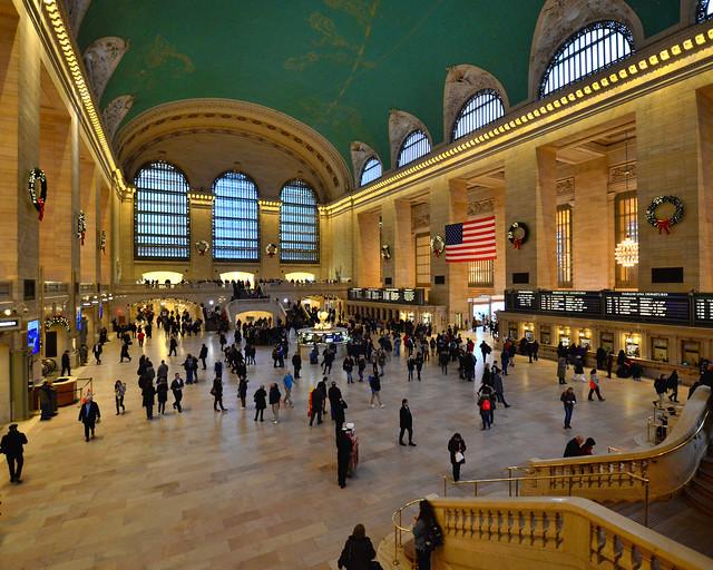 Grand Central Terminal visto desde el restaurante de Michael Jordan en Nueva York