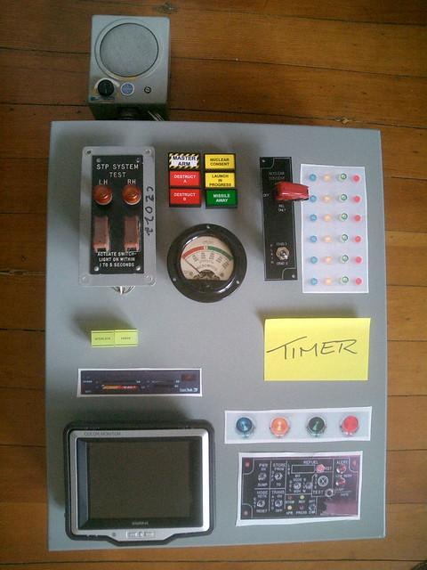 control panel mockup