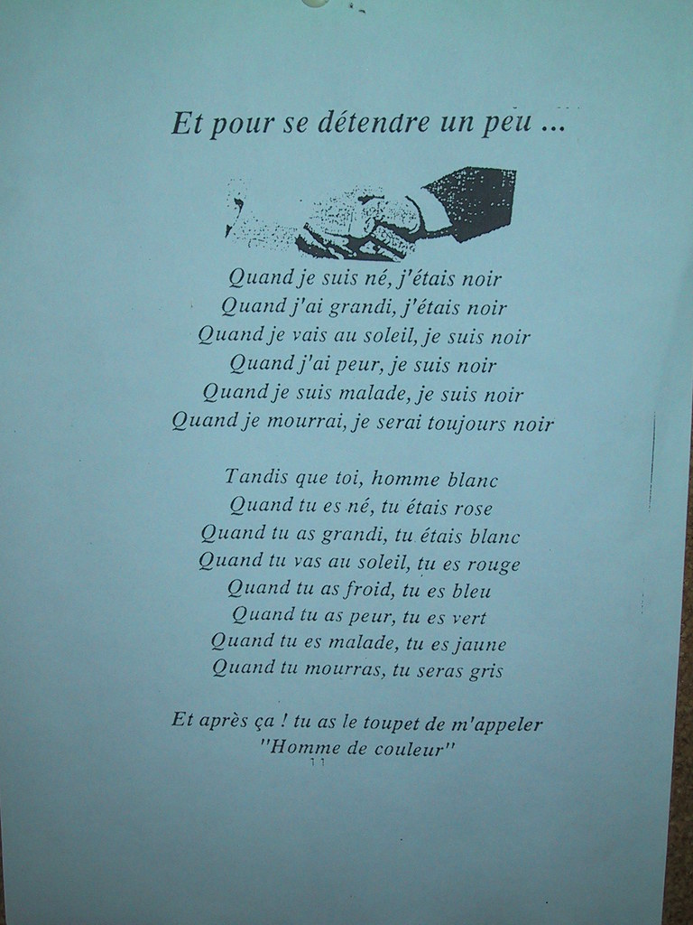 A poem, while you wait, en Francais ... | I was psyched ...