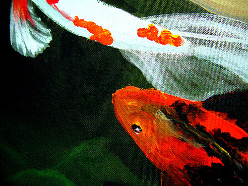 Playing koi this is a detail from a painting of a koi for Playing koi