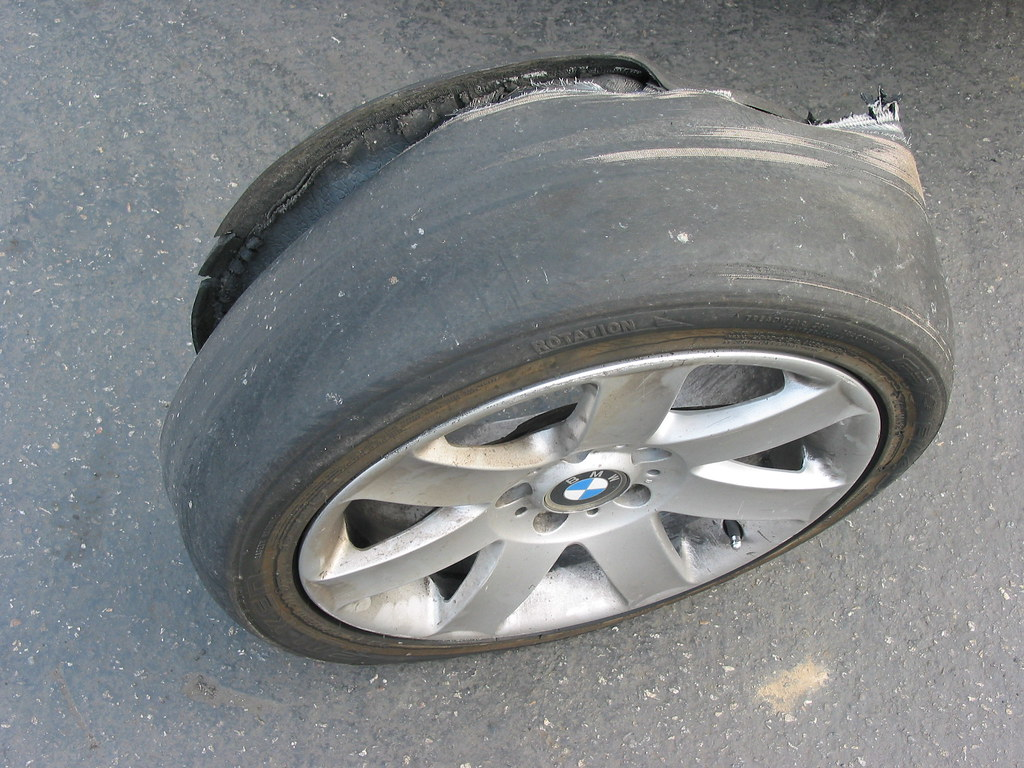 Oops This Is What Happens When You Drive On Bald Tires