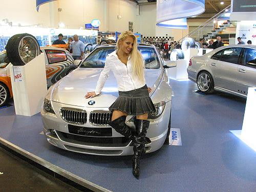 Bmw Babe Bmw Babe Seen At The Motorshow Essen 2004