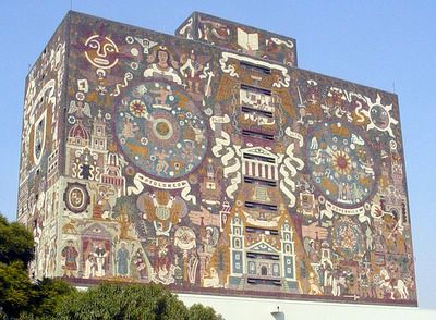 Mural de juan o gorman ubicado sobre el edificio de la bib for Mural de juan o gorman