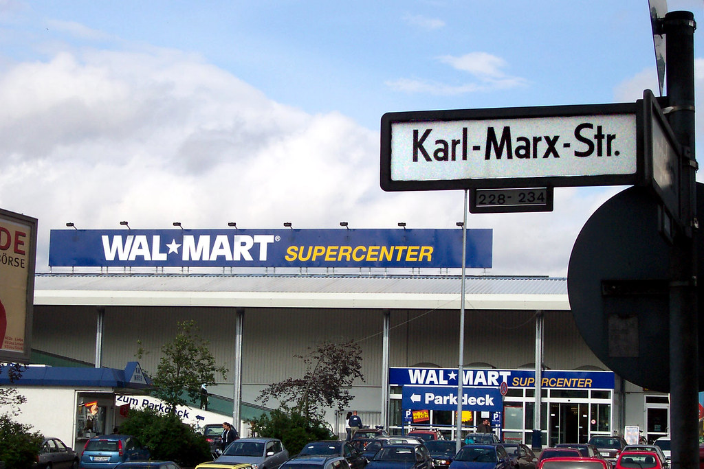 karl marx and wal mart essay Is wal-mart good for communities, or is wal-mart a wolf in sheep's clothing with a gross annual sales of over $67 billion and more than 2,000.