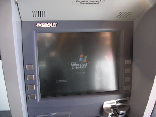 The Diebold ATM in Kohlberg coffeebar rebooting after a cr