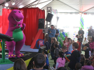 Barney at the Sprout launch party | Steve Rhodes | Flickr